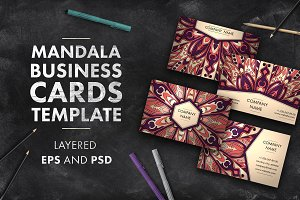 Mandala business card template 01