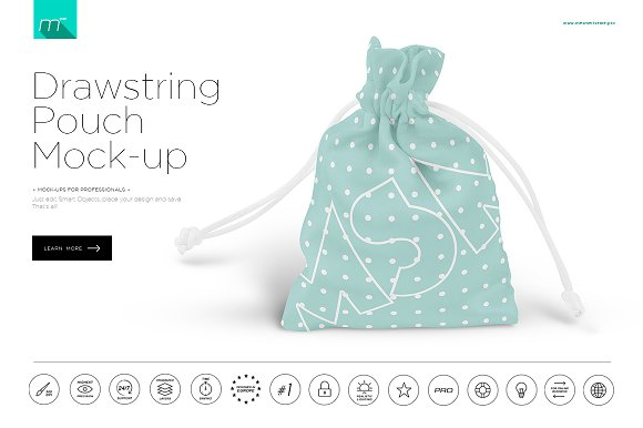 Download Drawstring Pouch Mock-up