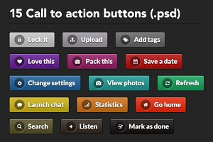 Call to Action Buttons (.psd)