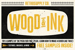 Wood & Ink | Texture Pack [FREEBIES]