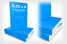 5.25 x 8 Softcover Book Stack Mockup