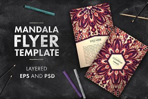 Mandala flyer template 01