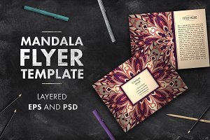 Two mandala flyers templates 01