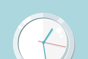 Clock Logo Icon Isolated