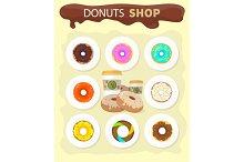 Sweet Donuts Set Designм