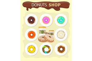 Sweet Donuts Set Designм