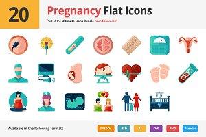 20 Pregnancy Flat Icons