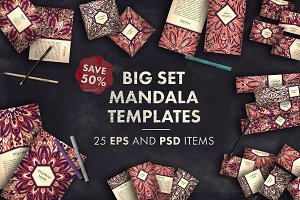 Big set mandala templates 01