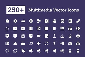 250+ Multimedia Vector Icons