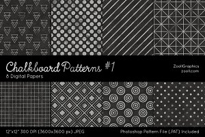 Chalkboard Digital Papers #1