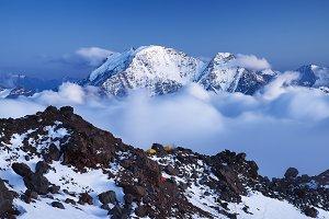 High mountain ridge