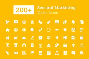 200+ Seo and Marketing Vector Icons