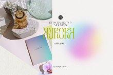 Aurora - DUO Mockups & Gradients by  in Mockups