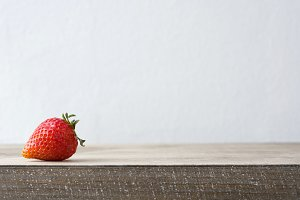 Strawberry on a wooden table