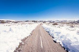 Snow Mountain, A Veiga, Galicia, Spain.