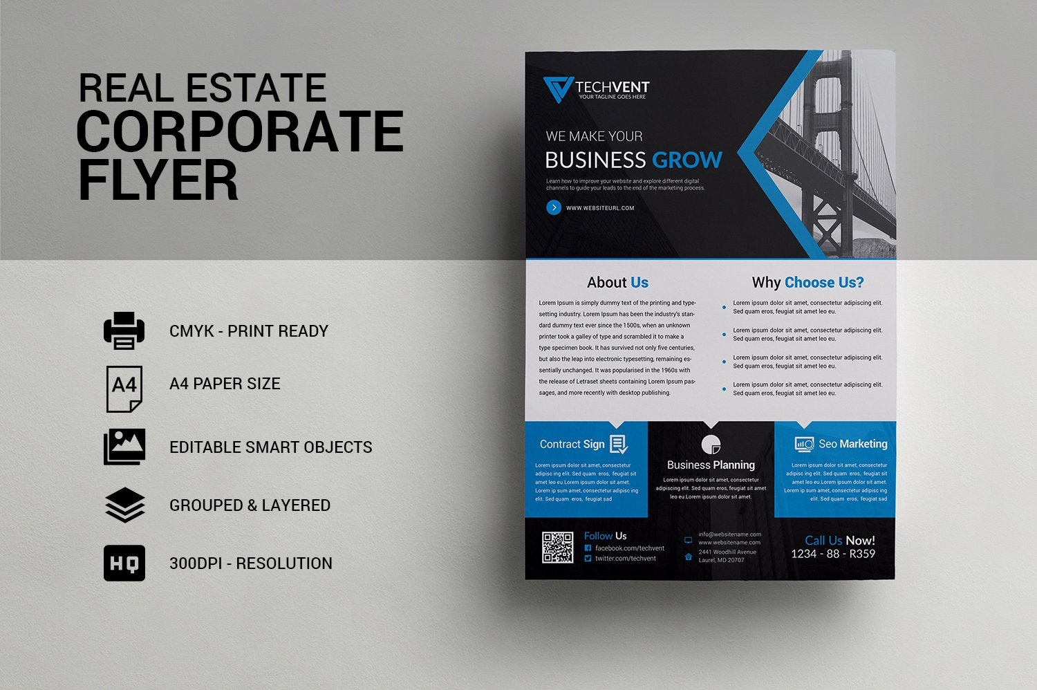 Real Estate Corporate Flyer Template ~ Flyer Templates ~ Creative Market