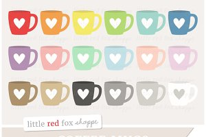 Heart Coffee Mug Clipart