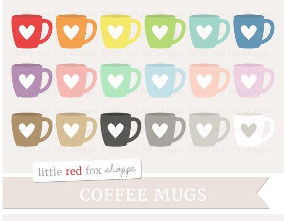 Heart Coffee Mug Clipart