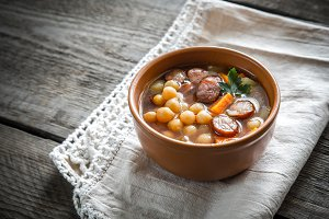 Soup with chickpeas