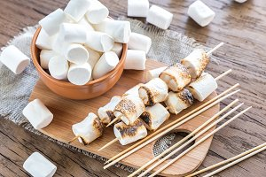 Marshmallow skewers