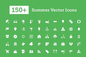 150+ Summer Vector Icons