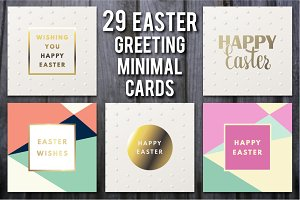 Easter Greeting Minimal Cards