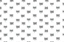 Elephant Dots Seamless Pattern