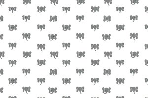 Elephant Dots Seamless Pattern
