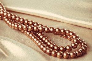 beads on silk