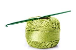 Crochet green threads