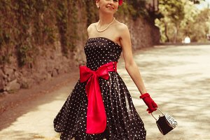 Retro fashion woman
