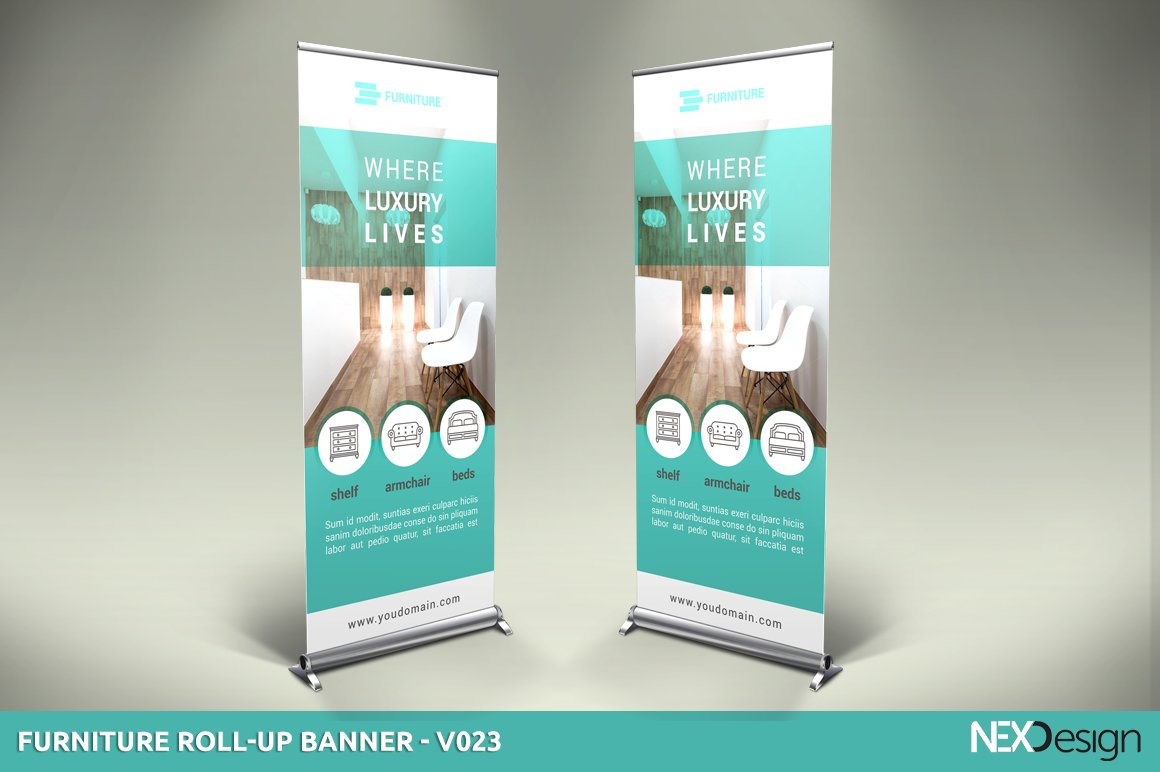 furniture roll up banner sk presentation templates creative market