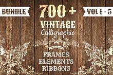 700+ Vintage Bundle (All 5 Volumes)