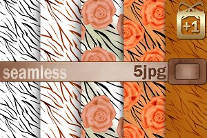 Seamless 5  backgrounds rose .