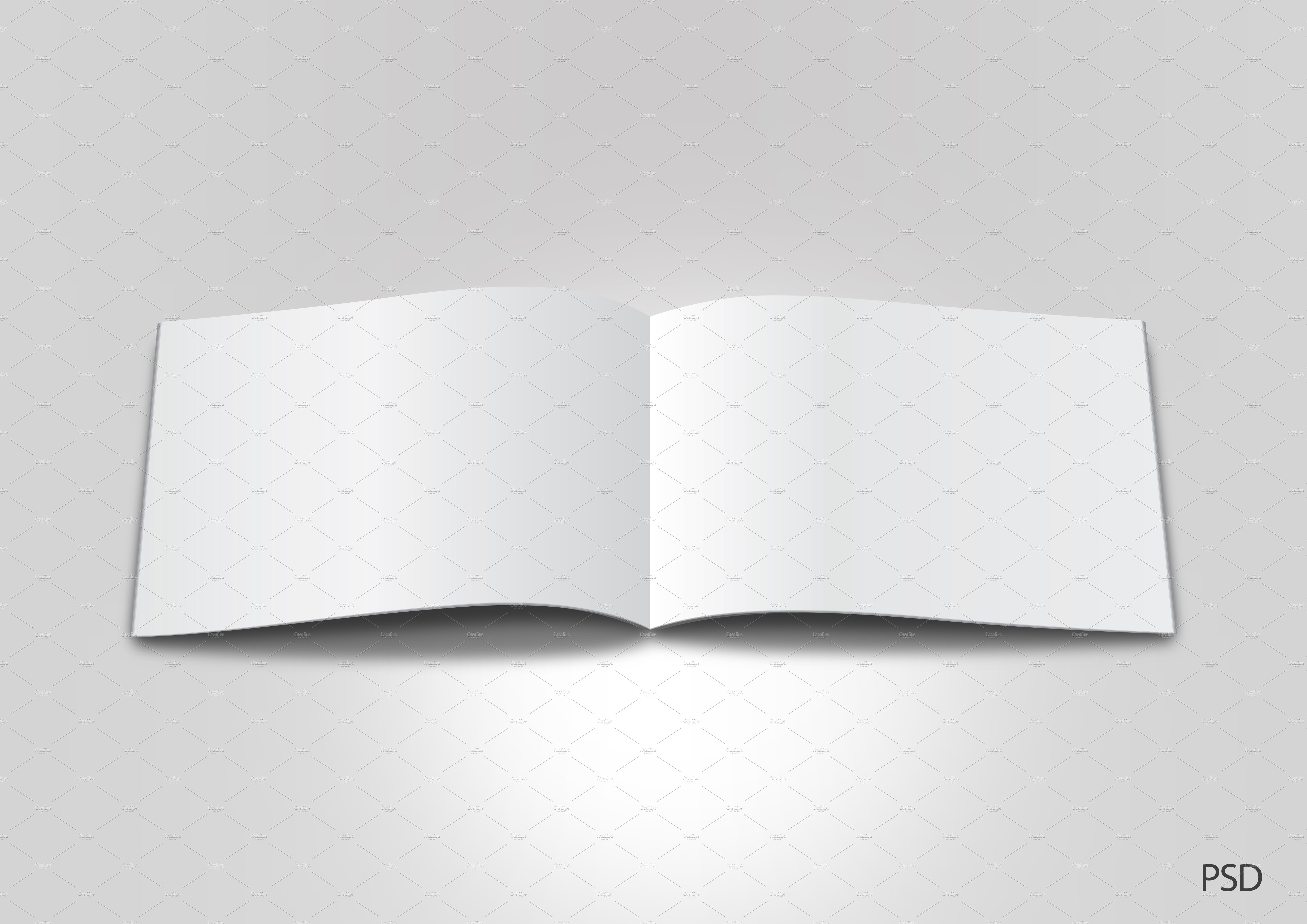 Open Magazine Blank Template Graphic Objects Creative Market