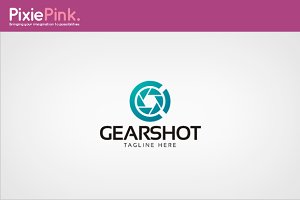 Gear Shot Logo Template