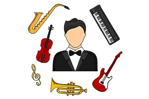 Musician profession and instruments