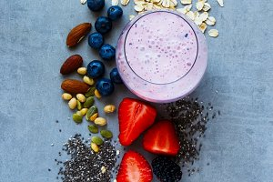 Homemade fruits smoothie