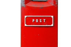 Red postbox isolated