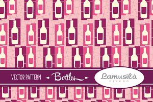 Bottles Vector Pattern