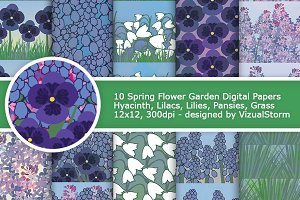 Spring Flower Garden Patterns