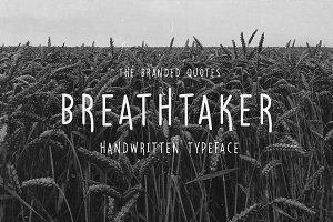 Breathtaker Typeface 50% Discount!