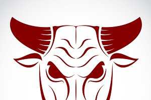 Vector image of an bull head