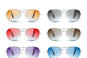 Sun glasses on white.vector