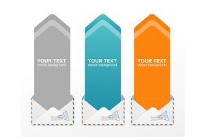 Colorful Text Box Arrow. Vector