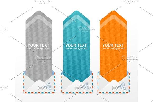 Colorful Text Box Arrow. Vector - Illustrations