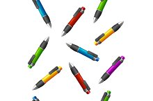 Pattern of Different Pens. Vector