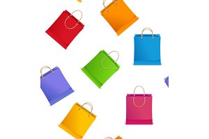 Seamless Pattern Shopping Bag