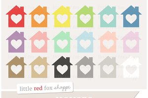 Heart House Clipart