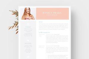 Jessica Prada - Feminine Resume/CV